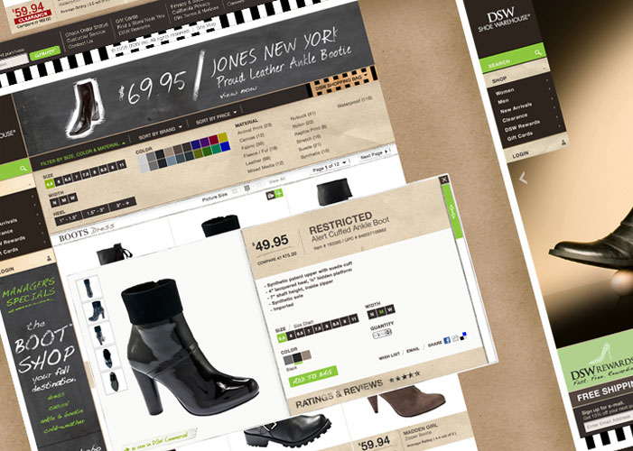 DSW - Ecommerce Strategy, Design & GUI